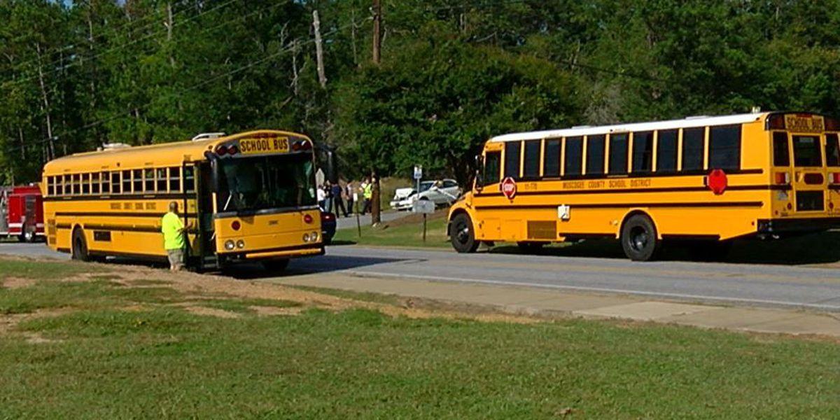 School bus, car crash on Lynch Road in Columbus
