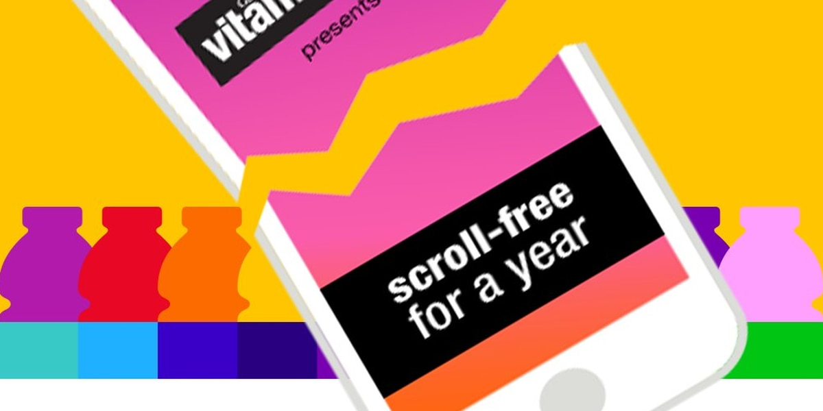 Vitaminwater bets $100,000 you can't go a year without your smartphone