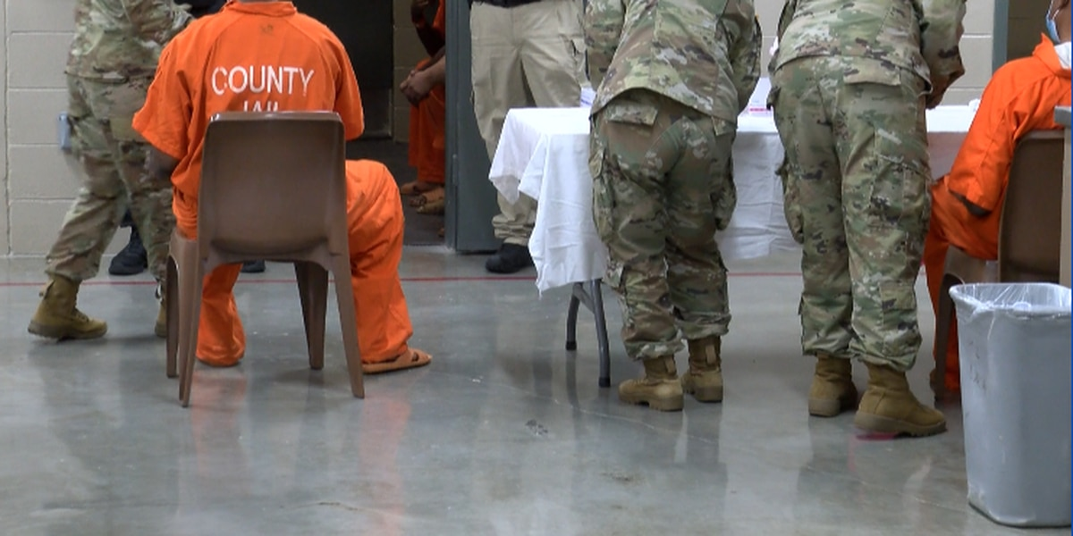 Alabama National Guard turns to vaccinating inmates, the homebound