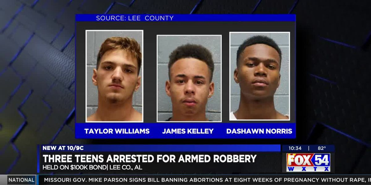 Three teenagers arrested in Lee County armed robbery, held on $100K bond