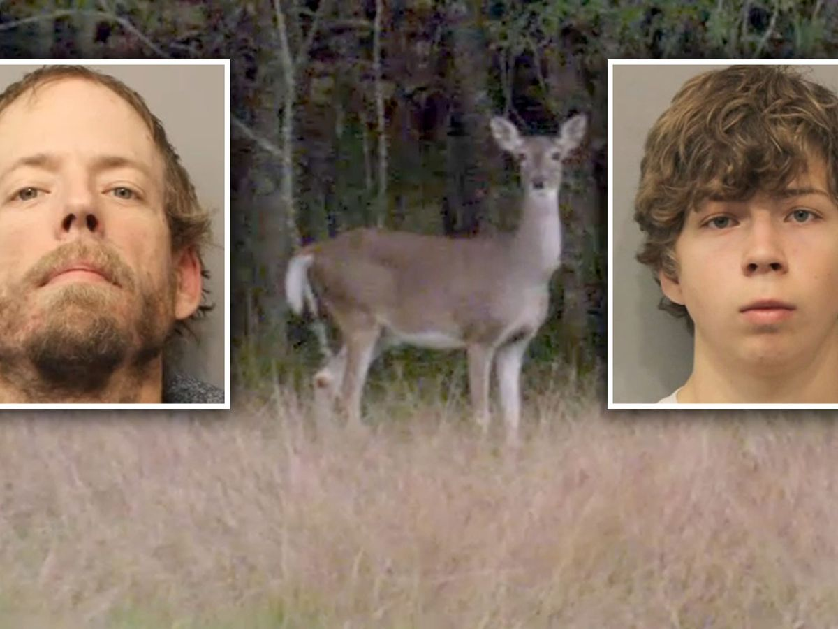 Father and son arrested for illegally hunting deer on college campus, police say