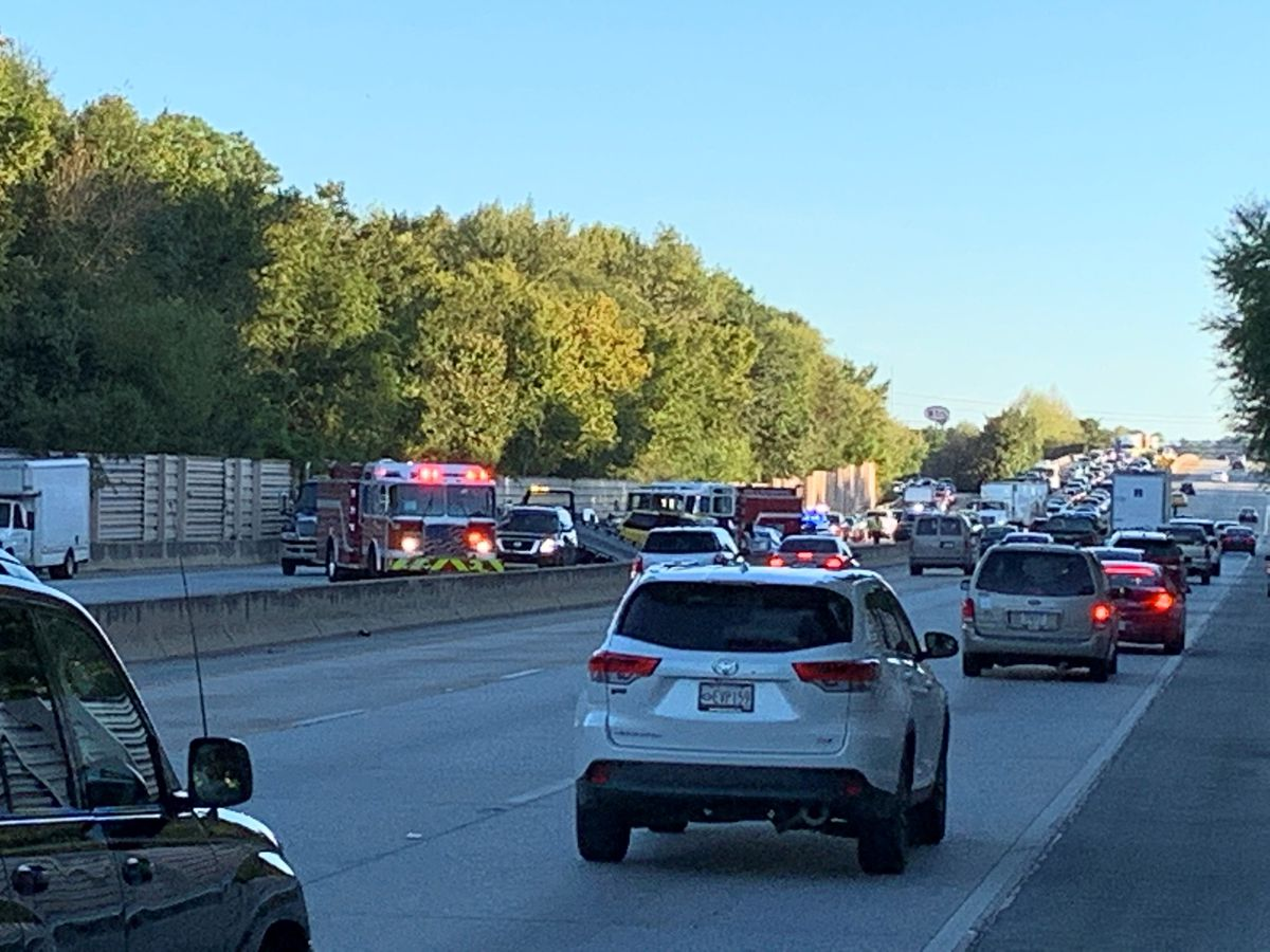 Traffic delayed on I-185 northbound in Columbus following multi-vehicle accident