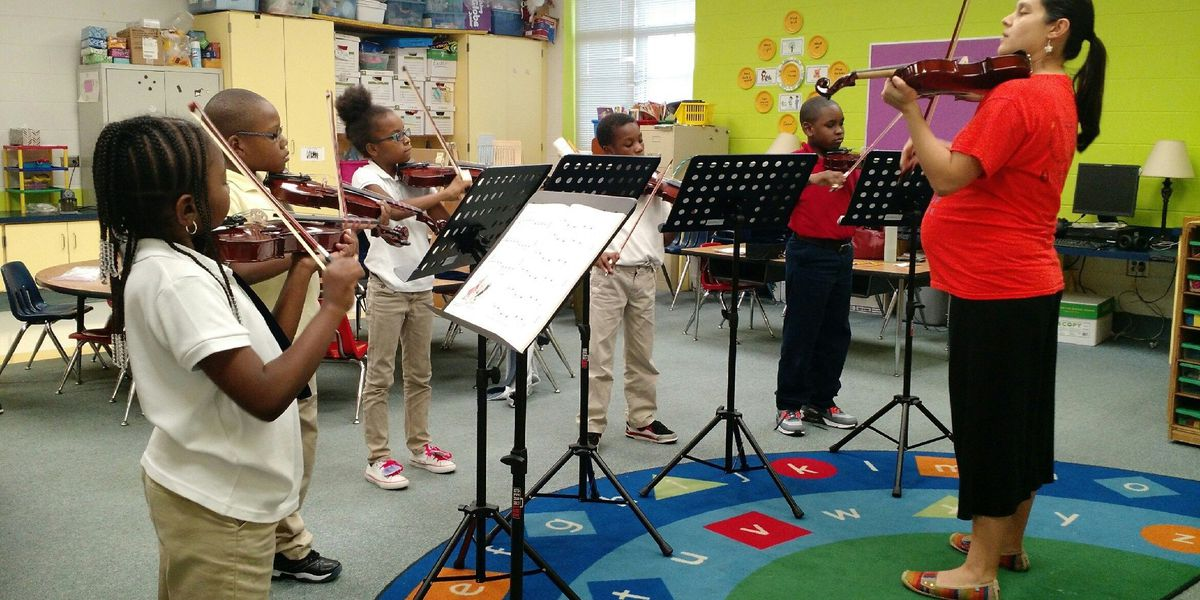 CSO partners with CSU to give free violin lessons to elementary schools