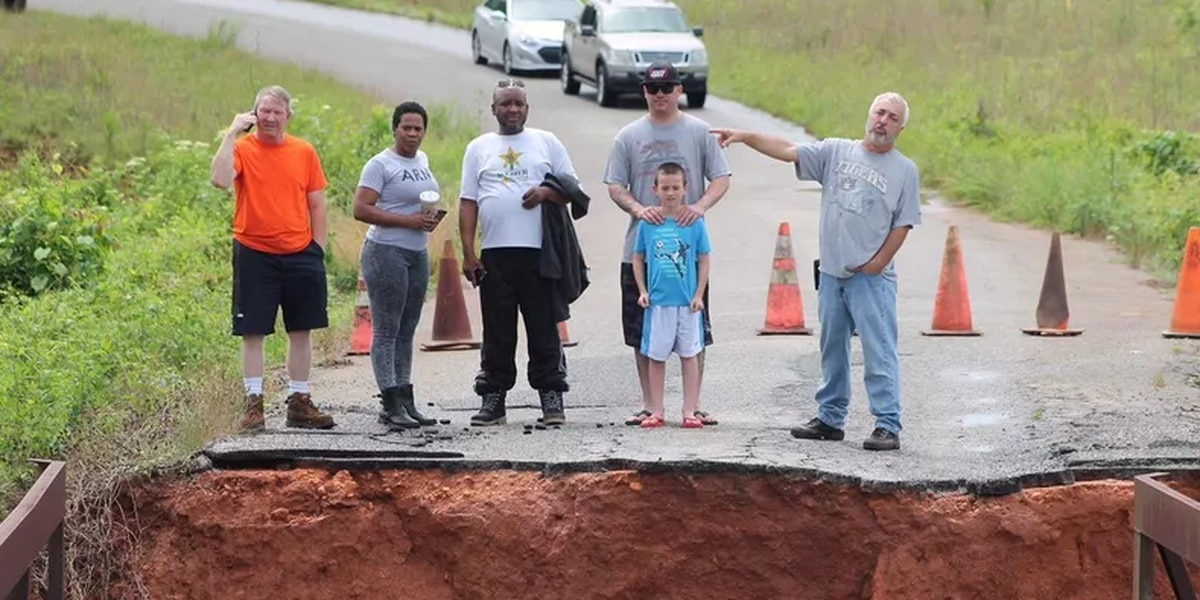 Lee Co. families still trapped at home after bridge collapse