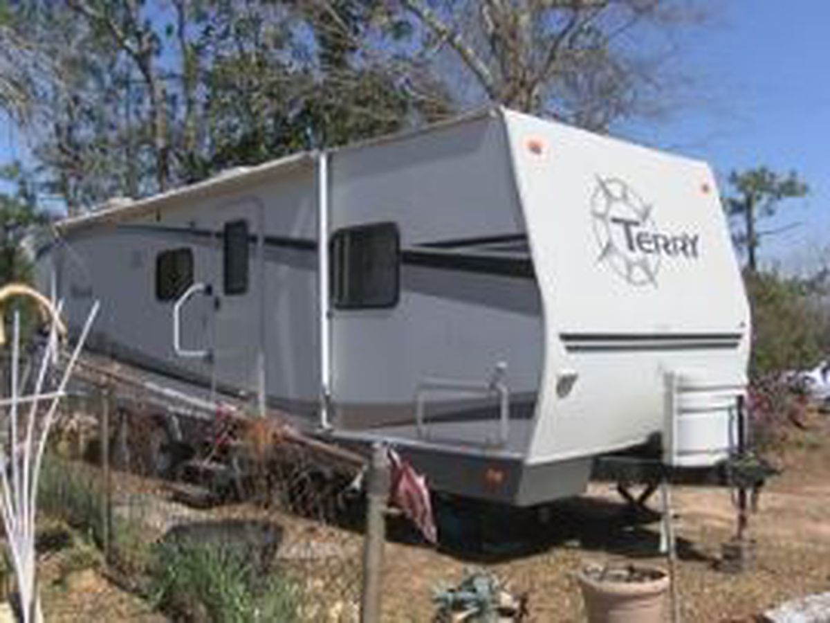 TX couple donates camper to Lee County tornado victim living in damaged home