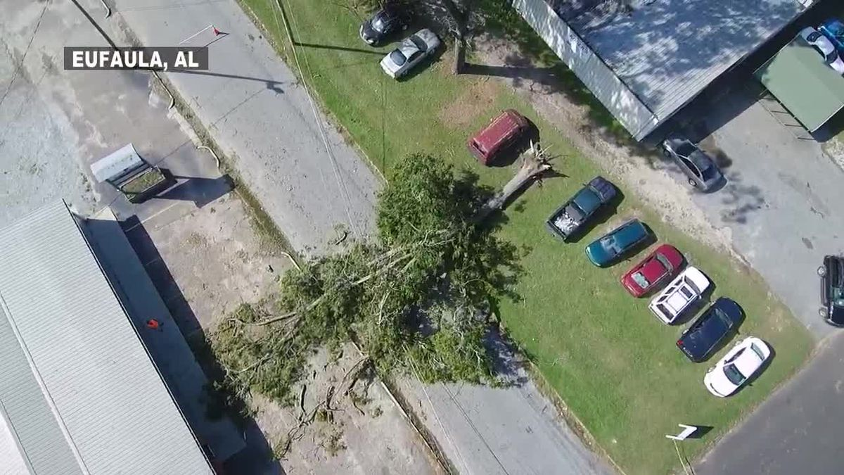 Drone footage of damage from Hurricane Michael