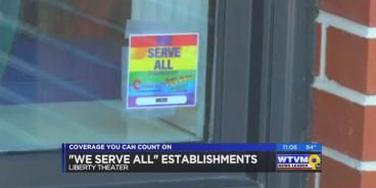 Liberty Theater latest to boast 'we serve all' display