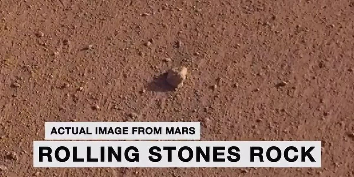 Mars rock named after the Rolling Stones by NASA