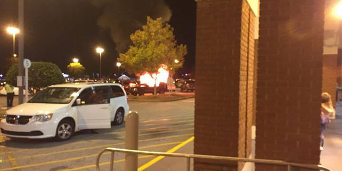 Car catches fire at Publix parking lot on Bradley Park Drive