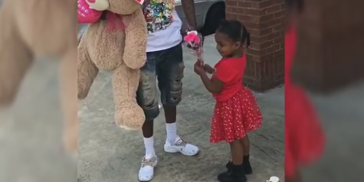 VIDEO: GA father surprises daughter on Valentine's Day