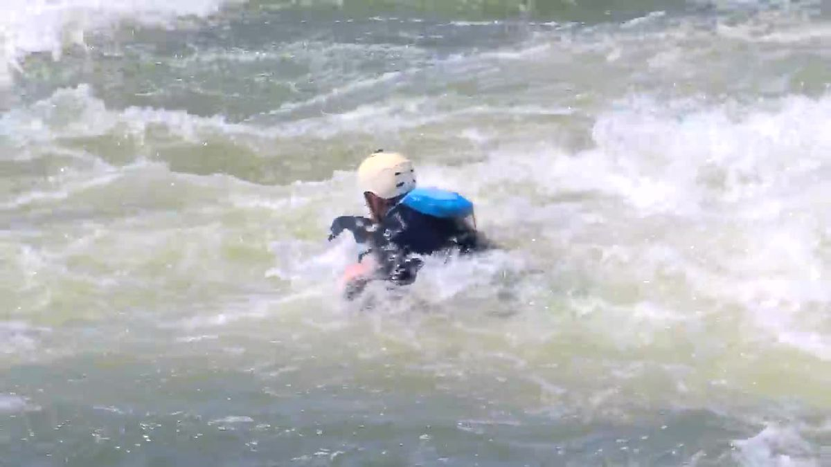 Sports Leader 9 goes riverboarding