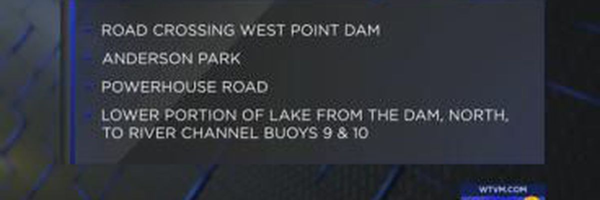 VIDEO: Traffic: Areas around West Point Lake close for training exercise