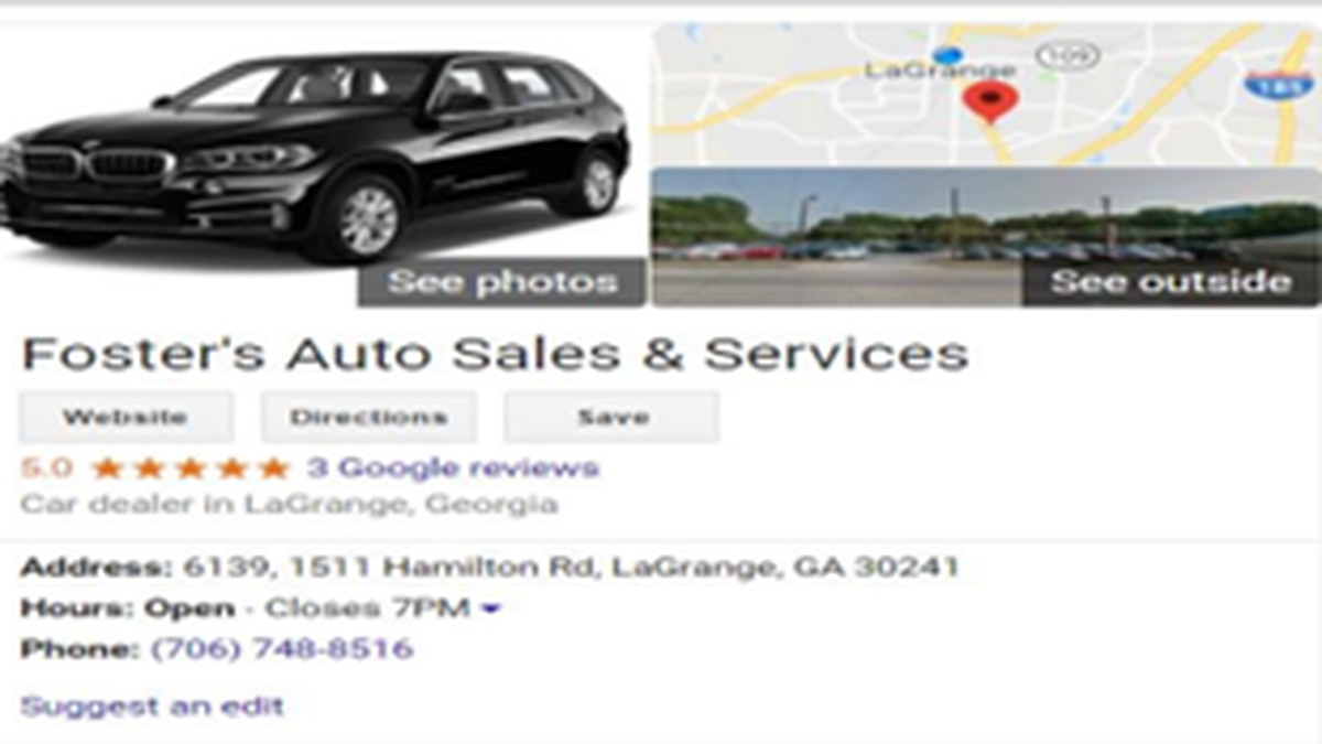 Scammer reportedly trying to sell vehicles over the internet in LaGrange