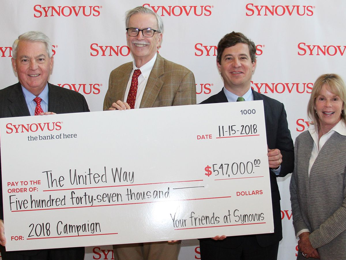 United Way raises more than $500K in Synovus fundraising campaign
