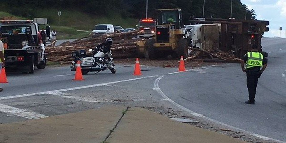 TRAFFIC ALERT: Overturned log truck causing delays on Hwy 431