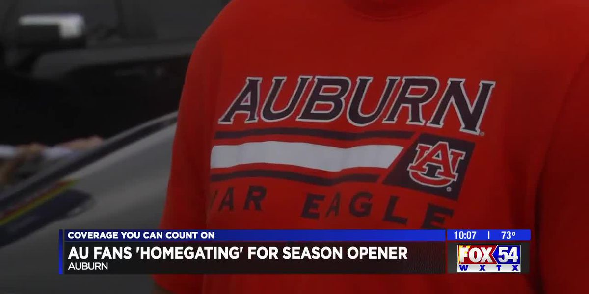 Auburn football fans tailgating at home amid coronavirus restrictions