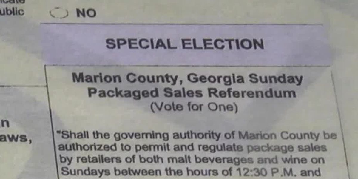 Marion Co. voters to decide on alcohol sales on Sundays