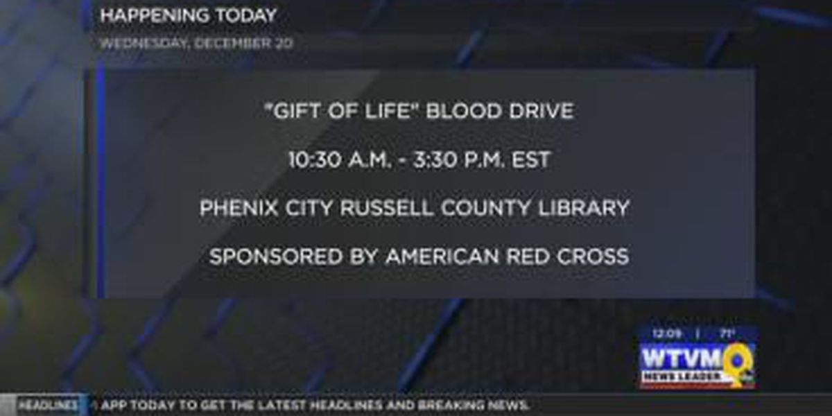 Russell County Library hosting blood drive Wednesday
