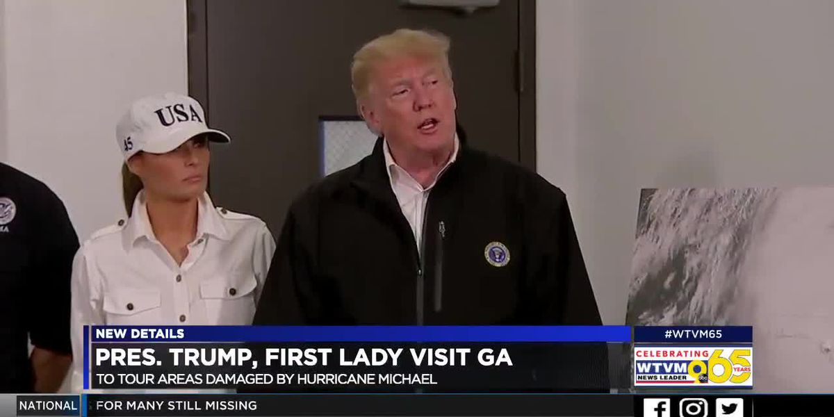 President Trump visits GA after areas hit hard by Hurricane Michael
