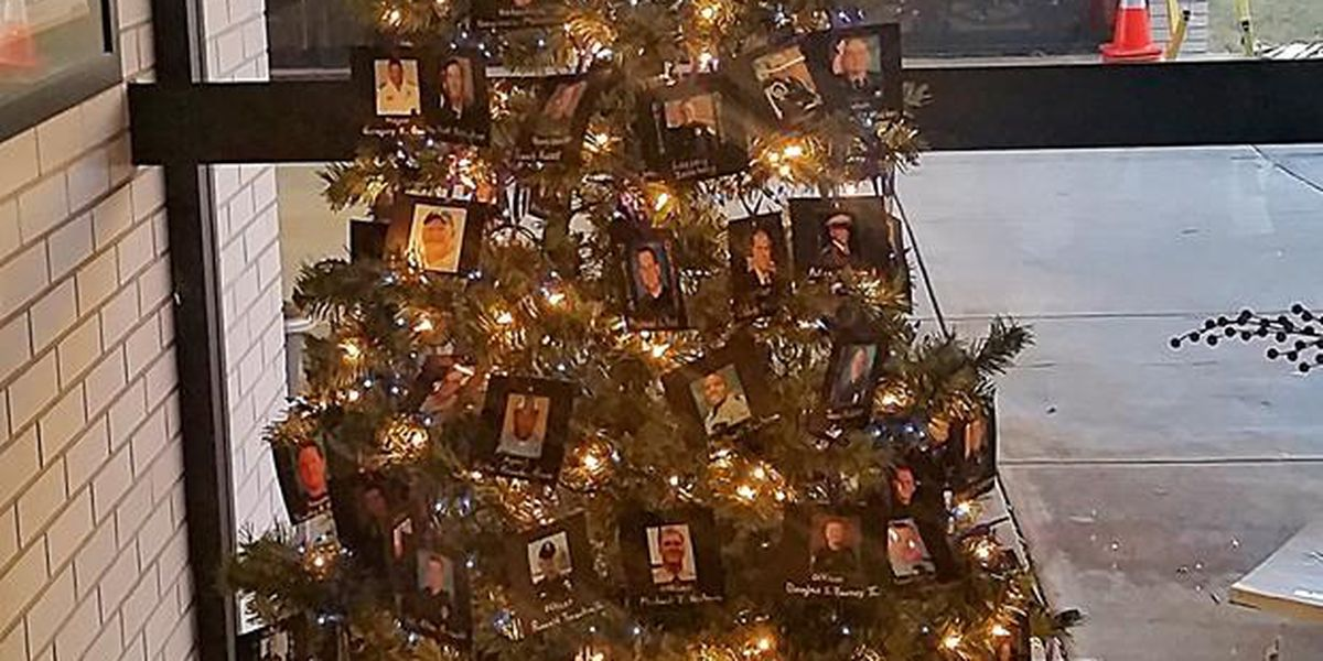 ga police department honors fallen officers on christmas tree - Police Officer Christmas Decorations