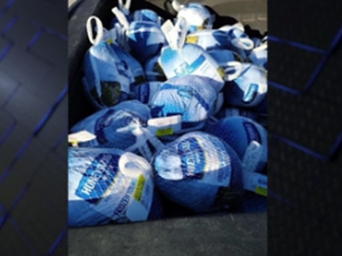 Davis Broadcasting in Columbus hosts drive-thru turkey giveaways throughout the community