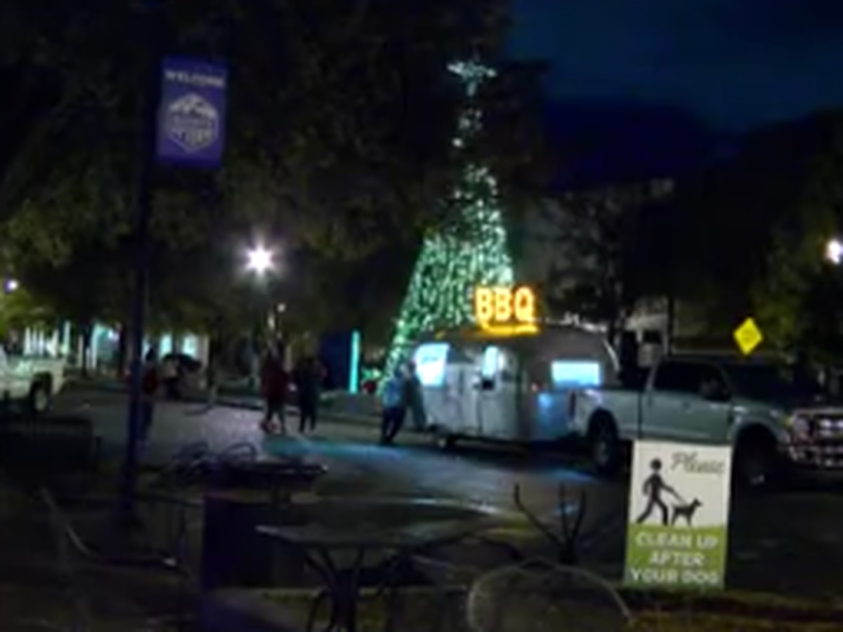 Annual tree lighting held on Broadway in Columbus