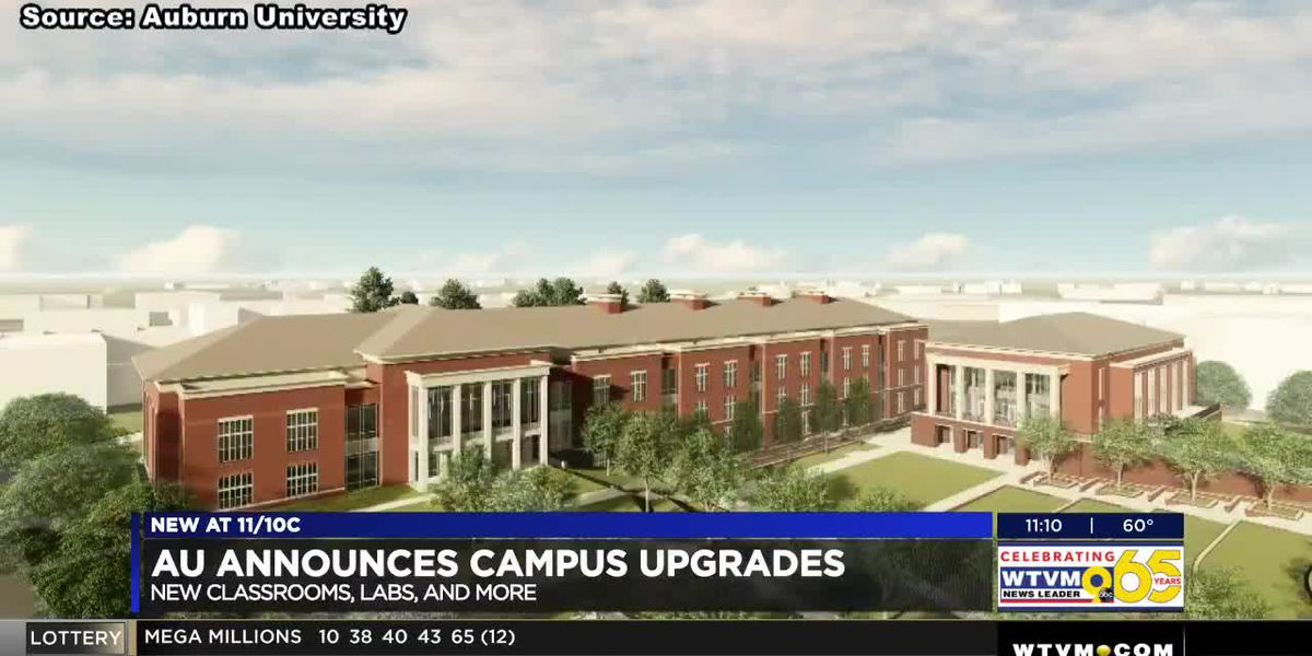Auburn University announces construction of a new classroom building and a three-story dining hall