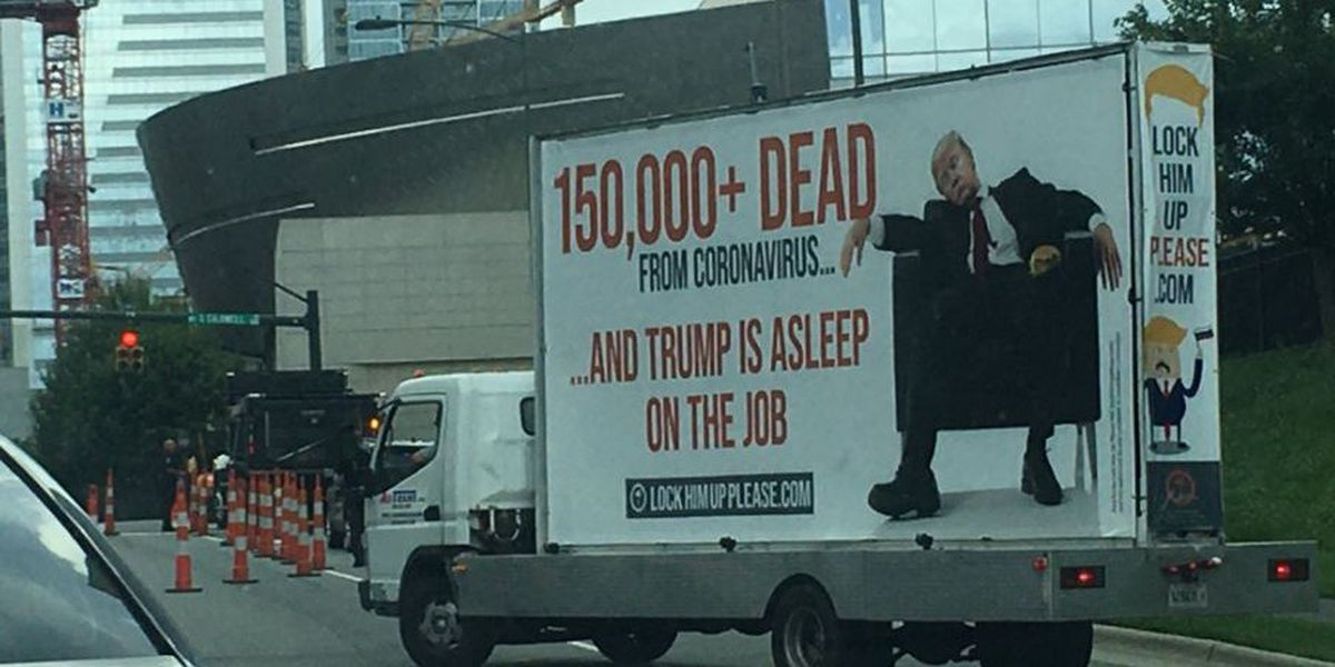 Anti-Trump billboard funded by GoFundMe moved from Florida to Charlotte ahead of RNC