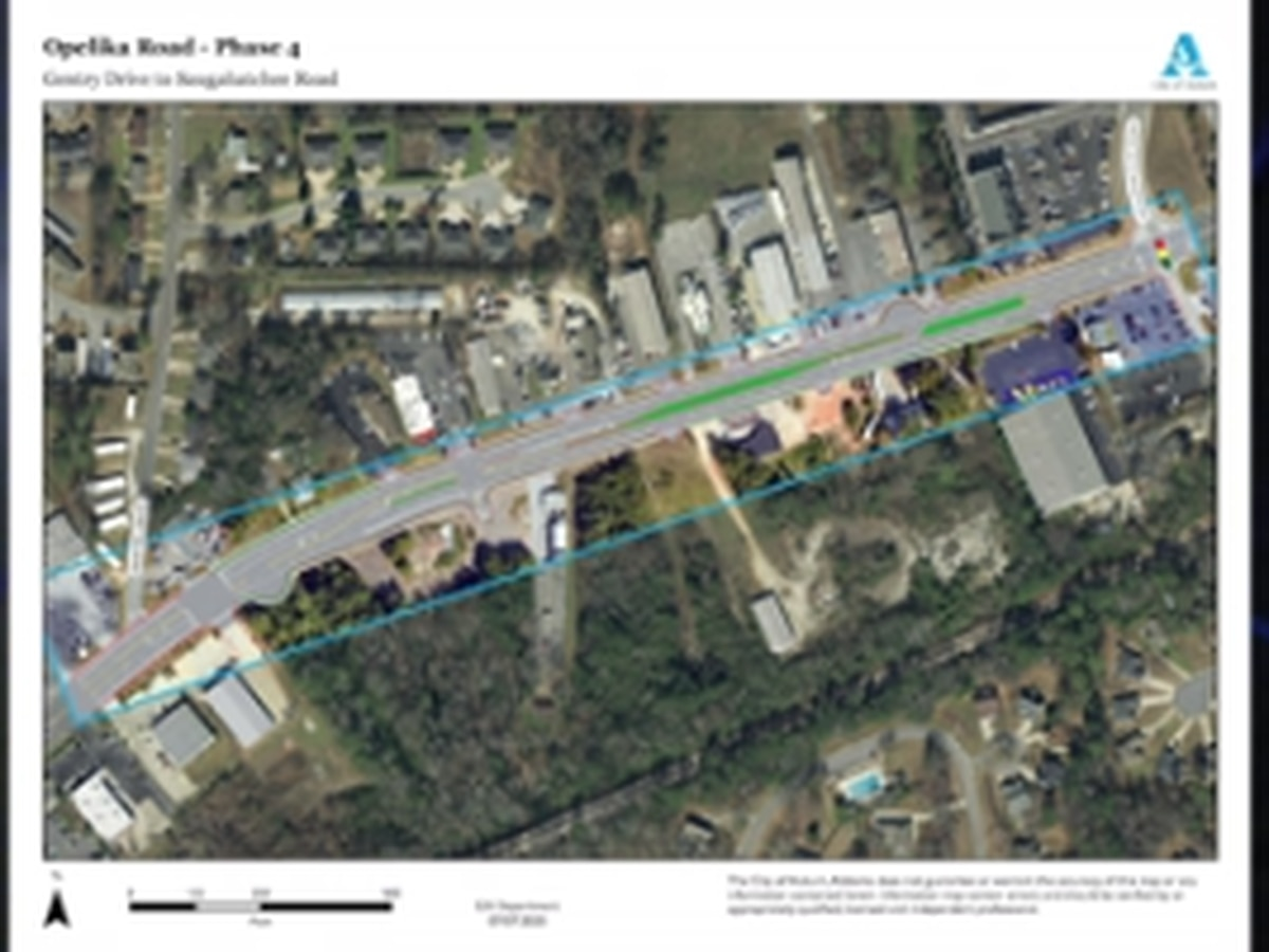 Portion of Opelika Rd. closed for construction work
