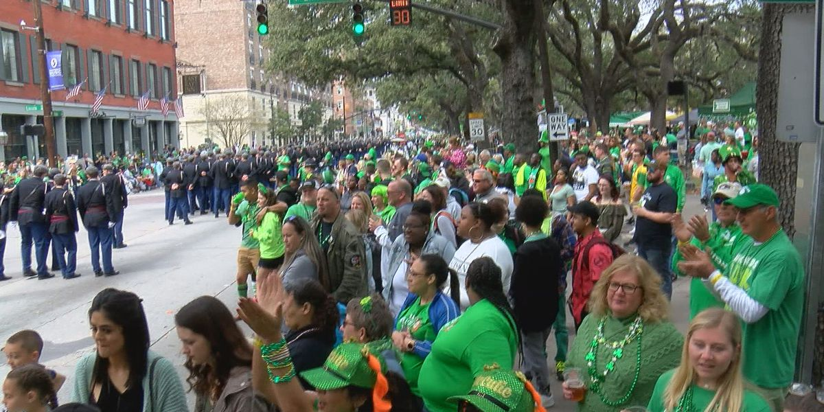Visitors travel from far and wide to experience St. Patrick's Day in Savannah