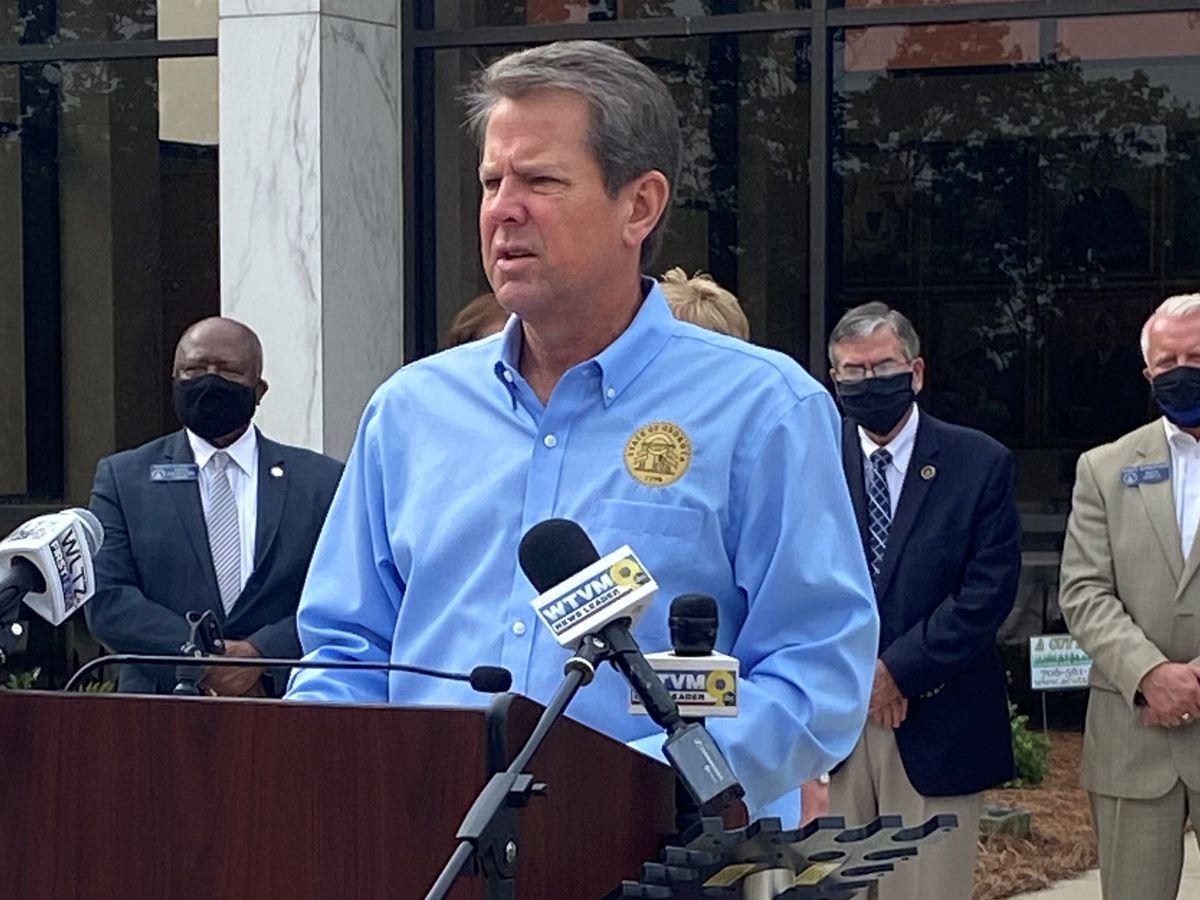 WATCH: Gov. Kemp visits Piedmont Columbus Regional, encourages community to wear masks