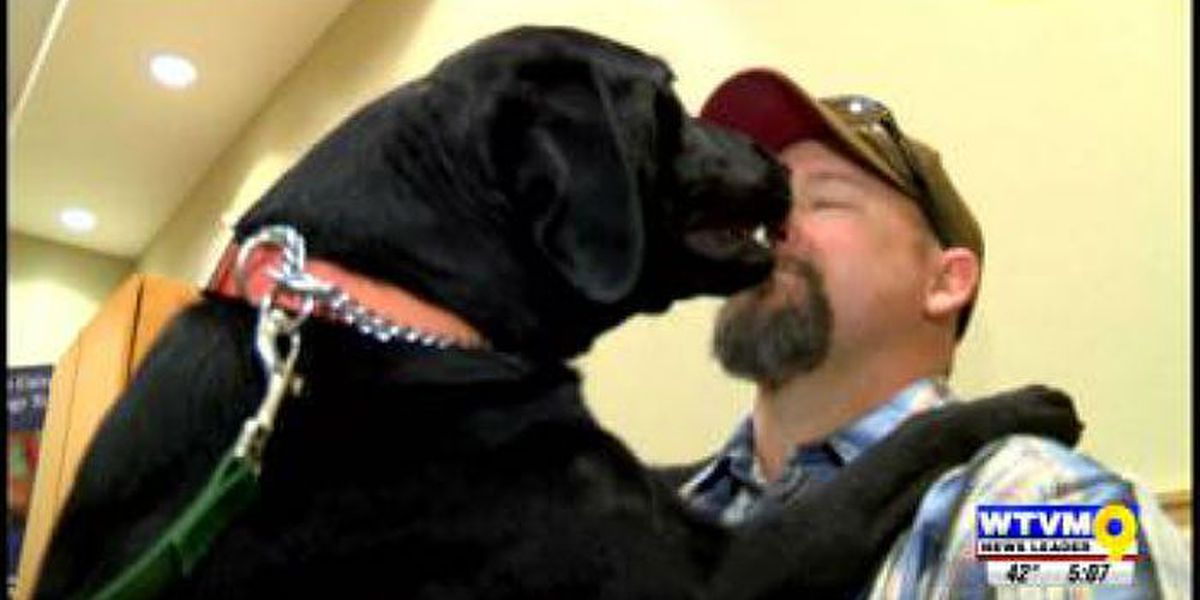 Organization provides service dog for veteran free of charge