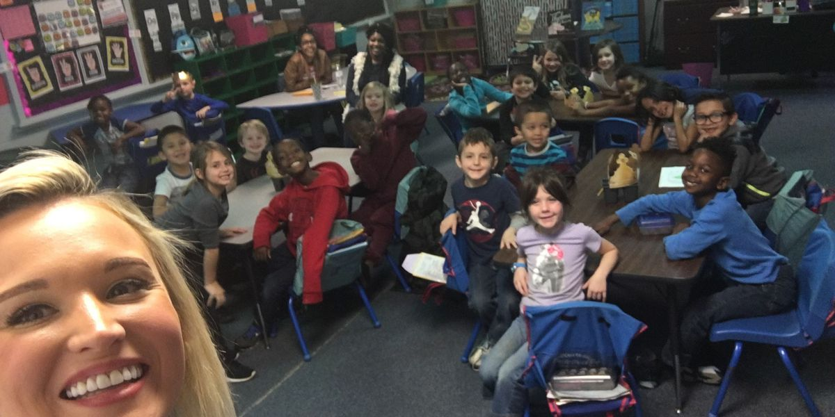 SO SWEET: Local elementary students practice news reporting for Career Day