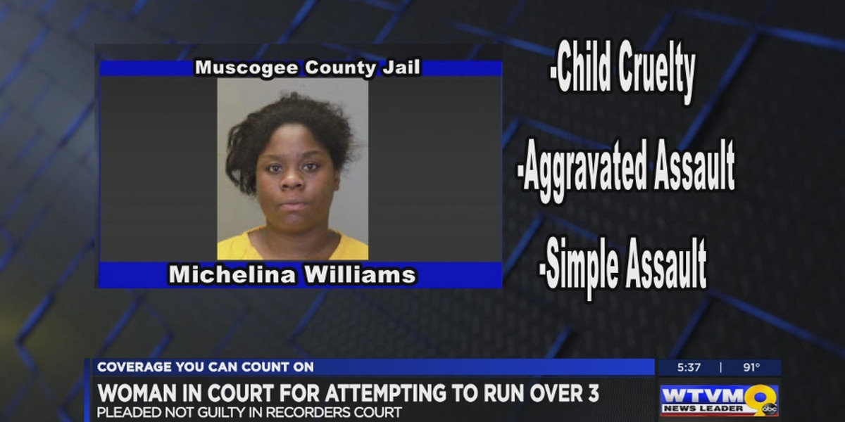 Columbus woman appears in court for attempting to run over 3 people, child cruelty charges