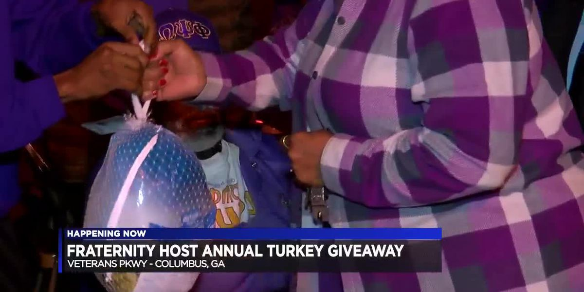 Fraternity chapter in Columbus gives away 300 turkeys to families in need