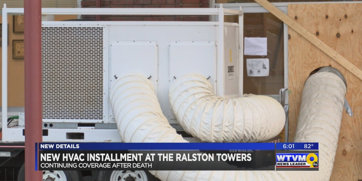 New HVAC unit installed at Ralston Towers