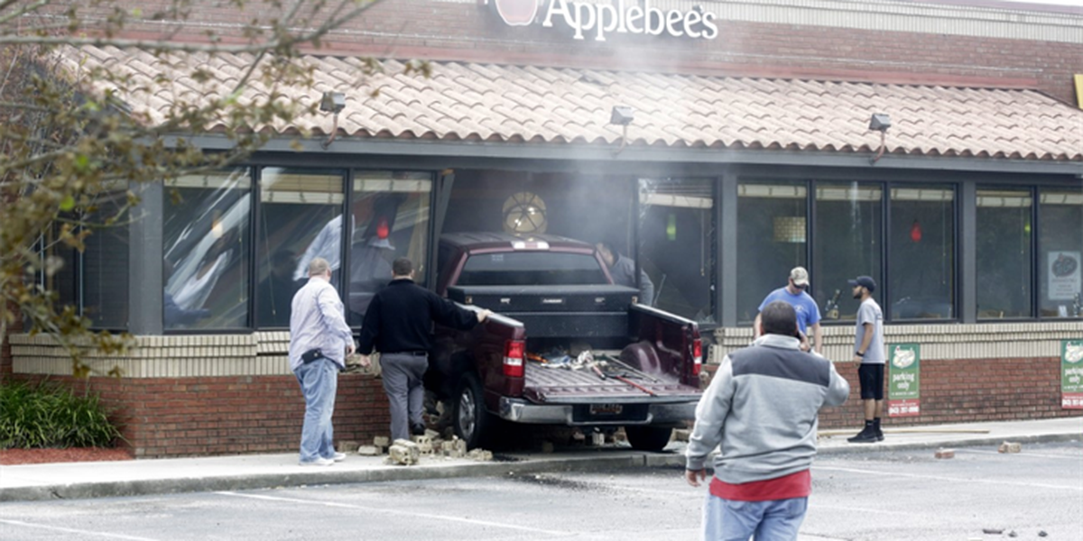 """Police: Driver had """"medical event"""", drove into Applebee's restaurant"""