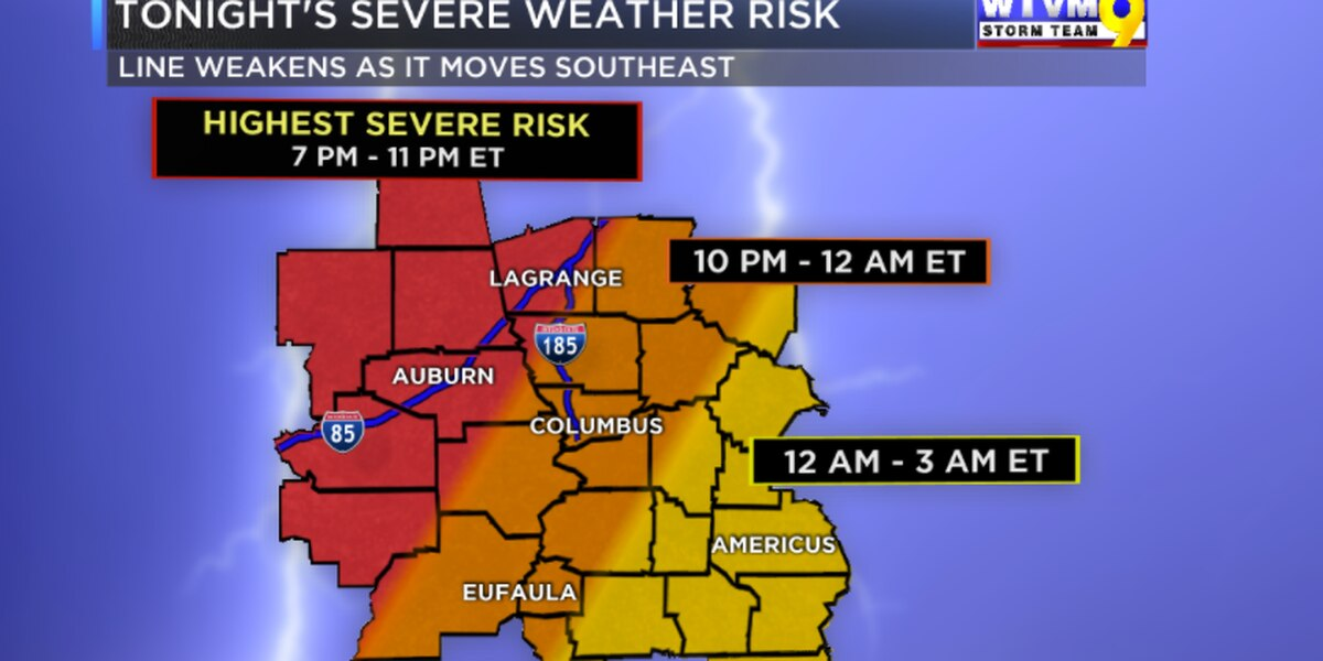 FIRST TO ALERT: Isolated Severe Weather Risk Continues This Evening / Tonight