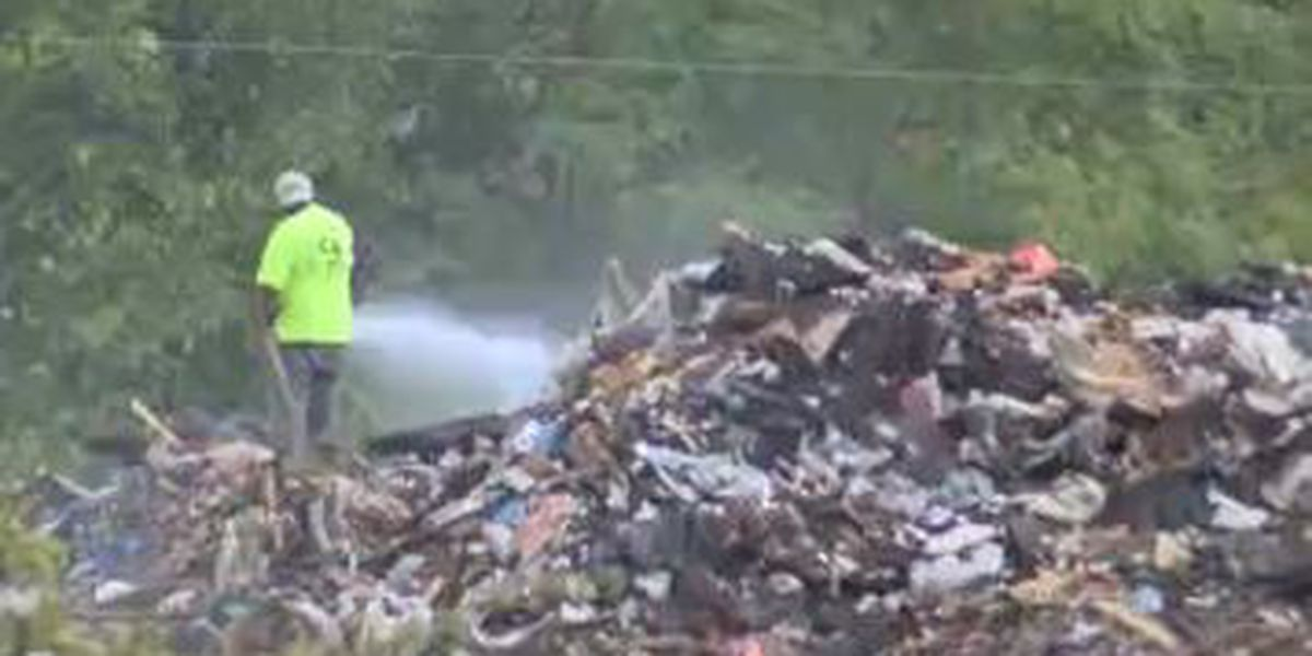 Crews still working to put out weekend fire at recycling plant in Auburn