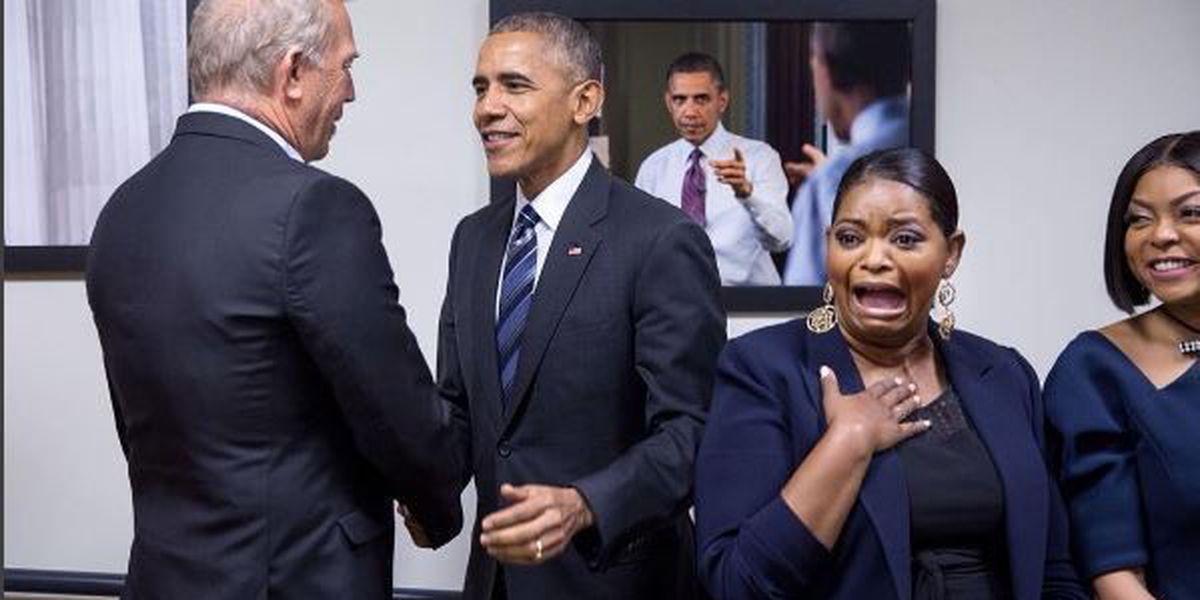 PHOTO: Actress Octavia Spencer has priceless reaction after POTUS meeting