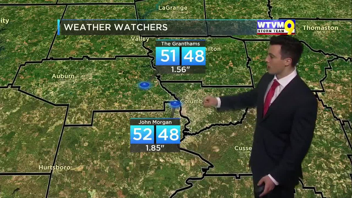 Monday Evening Weather on the Go