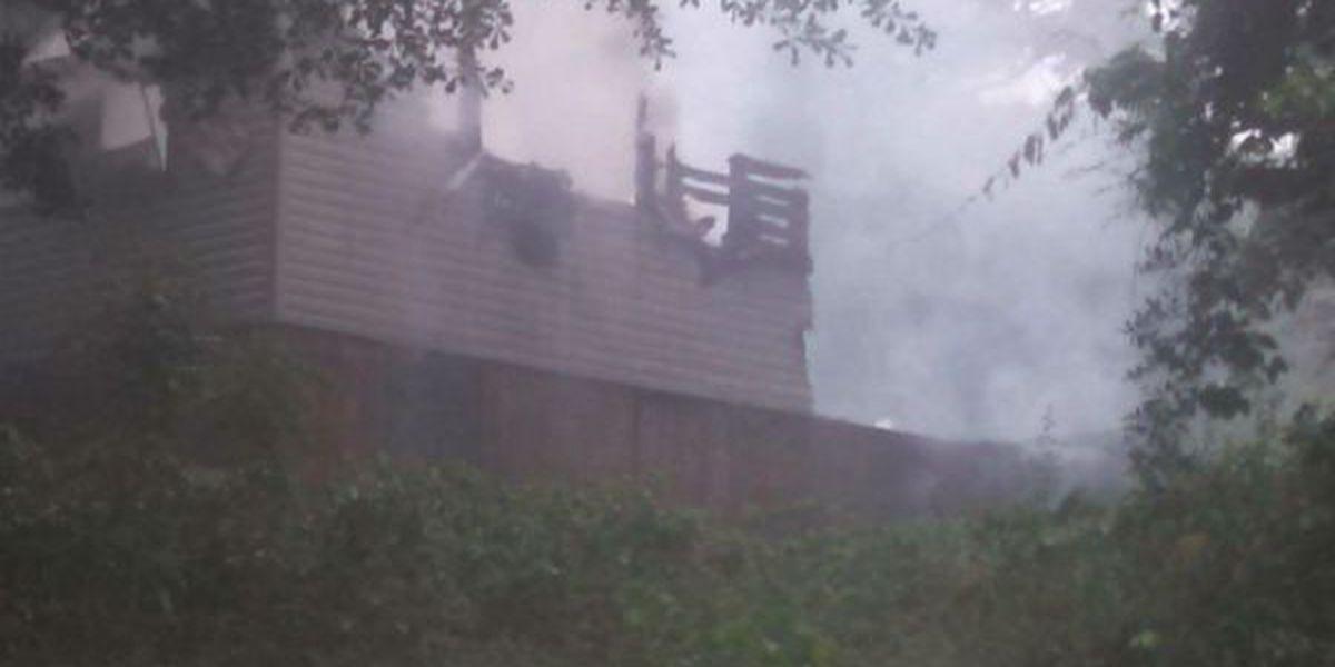 Home destroyed by lightning after severe weather