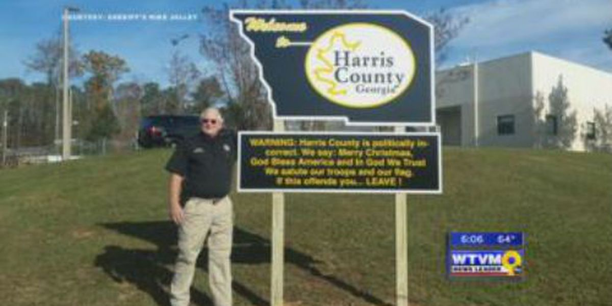 Harris Co. Sheriff's bold sign gaining attention