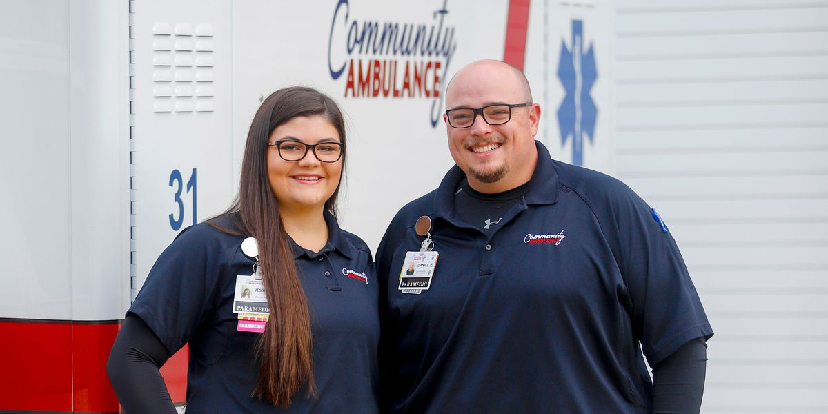 PCR recognizing husband-wife paramedic team for quick response
