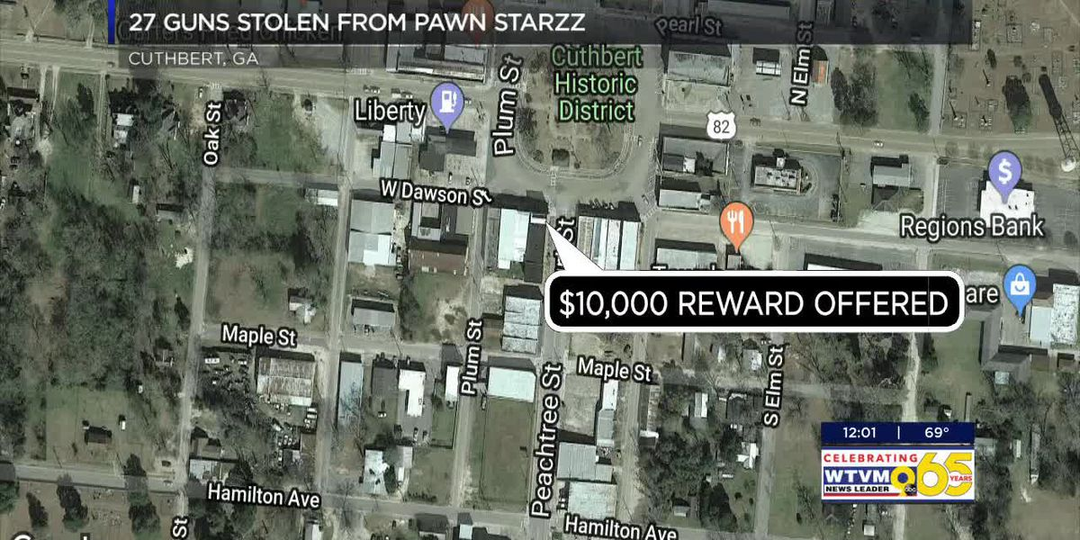 27 firearms stolen pawn shop in Randolph County