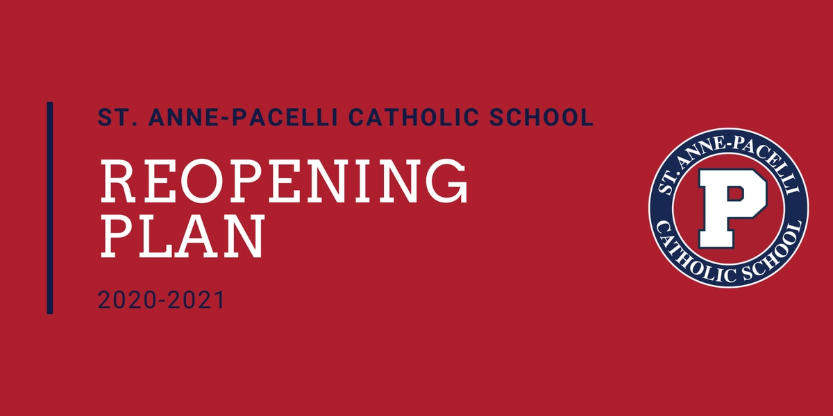 St. Anne-Pacelli Catholic School announces reopening plan