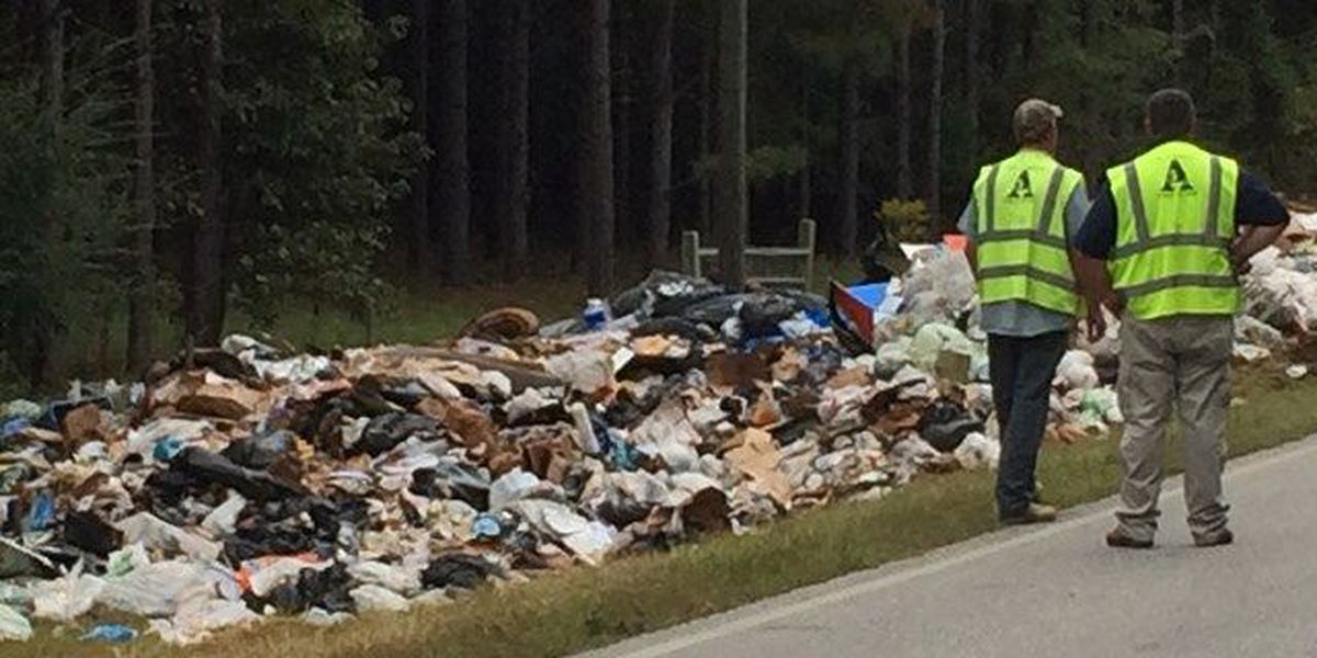 Collision spews trash on Lee Co. Rd. 72; APD warn drivers to avoid area