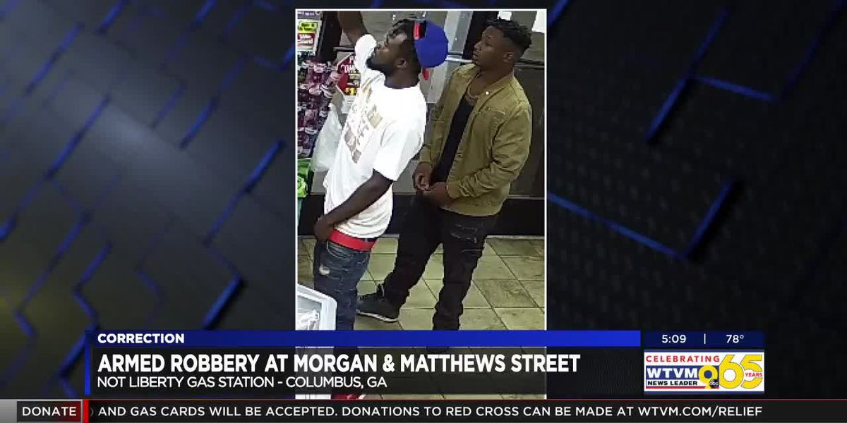 2 suspects wanted in connection to an armed robbery near Morgan St.