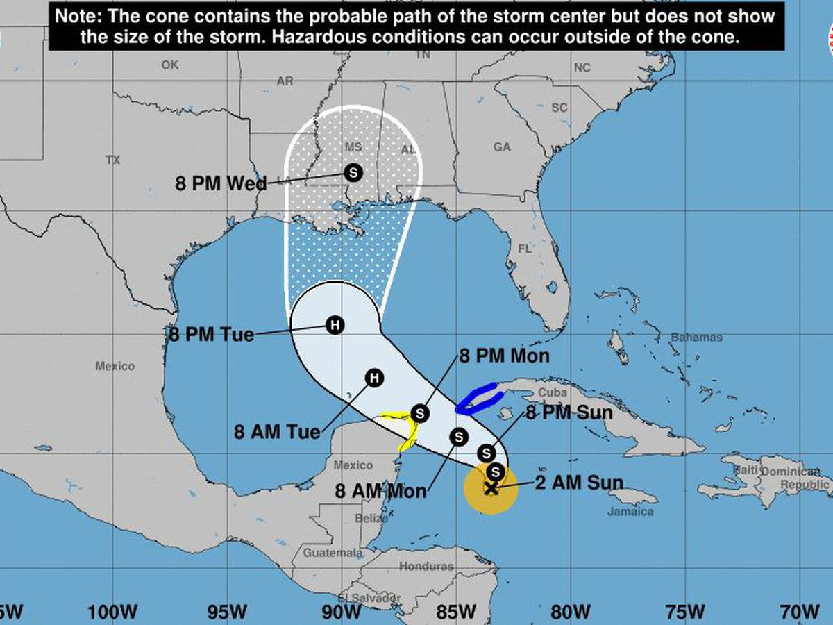 Tropical Storm Zeta a hurricane threat to Mexico, US Gulf Coast