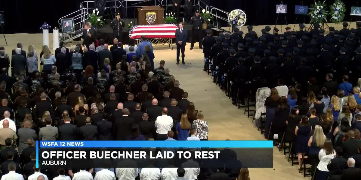 Many come out, celebrate the life of Auburn Officer William Buechner (